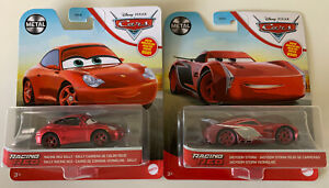 2021 DISNEY PIXAR CARS - RACING RED SALLY & JACKSON STORM - CHASE - NEW - METAL