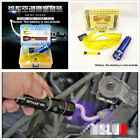 Air Conditioning Leak Detector A/C Car Fluid Gas LED UV Torch Safety Glasses Kit