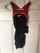 Nike One Piece Swimsuit - Children's Size 24 - Black/Red - New
