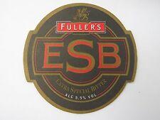 Beer Drink COASTER ~*~ FULLER'S Chiswick 5.5% ESB Estra Special Bitter ~ ENGLAND