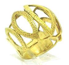 21 Karat Yellow Gold 22mm Cocktail Ring High Karat Gold Fine Estate Jewelry