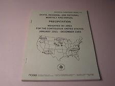 State Regional National Monthly Annual Precipitation Jan 1931 - Dec 1985 Usa