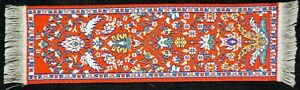 """Miniature Dollhouse Handcrafted Oriental Rug Carpet  - 1 7/8"""" by 7 1/8"""""""