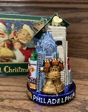 Old World Philadelphia Glass Ornament Christmas Liberty Bell Cheese Steak