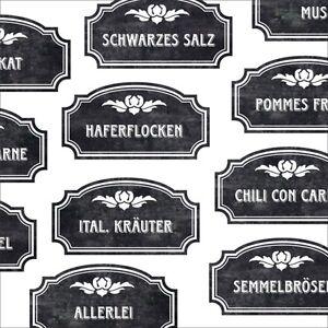 ausgefallene Gewürzetiketten, nostalgische Etiketten, Etiketten schwarz weiß