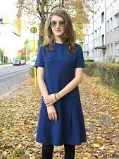 Angela Schwarze Damenkleid Mini Kleid blau 60er True VINTAGE 60s women dress 38