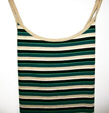 NEXT Beachwear Striped Sun Dress Green Gold Size 14 With Tags