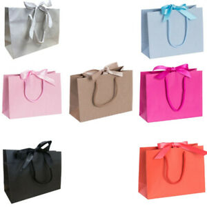 Gift Bag Ribbon Tie Bow Bags Wedding Birthday Gift Baby Shower Packaging