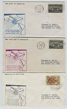 3 1959 First Flight Pan Am Jet Clipper New York  Asuncion Paraguay Postal Covers