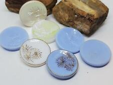Vintage Assorted Dandelion Image Glass Textured Cabochons Cabs DIY Craft Jewelry