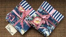 New listing Custom Made Set of Two Standard Pillowcases Blue/White Stripe & Floral Nice Gift