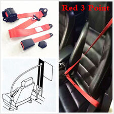 Automatic Universal Red 3 Point Retractable Car Safety Straps Front Seat Belts