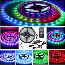 5m 5050 RGB LED Strip Band Leiste Streifen Licht Schlauch Fernbedienung Netzteil