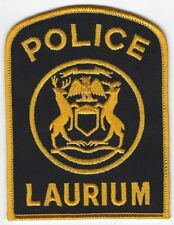 **LAURIUM MICHIGAN POLICE PATCH**