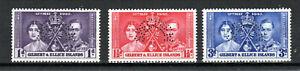 Gilbert and Ellice Islands 1937 Coronation set perf SPECIMEN MLH