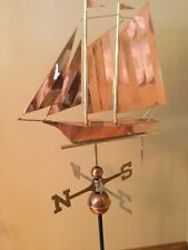 Good Directions Polished Copper Schooner Weathervane - 9601P with Roof Mount