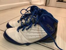 YOUTH AND 1 BLUE AND WHITE LEATHER HIGH TOPS SIZE 6.5 WORN   5X