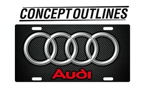 Audi Premium Aluminium License Plate Tag Custom For Car or Room
