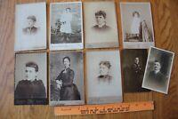 1800s Cabinet Card Lot of Antique Photographs & Vintage portrait postcards PA MA