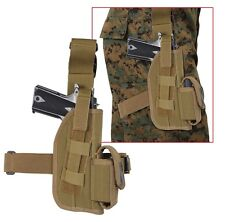 "Universal Coyote Brown 5"" Tactical Leg Holster With Mag Pouch 11552"
