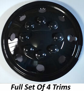 "16"" RENAULT MASTER BLACK VAN MOTORHOME CAMPER MINIBUS WHEEL TRIMS"
