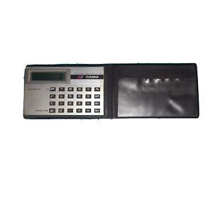TRES RARE vintage Calculatrice De Poche CASIO (Années 80) format Credit Card