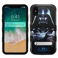 "for Apple iPhone Xs Max (6.5""), Hard+Rubber Rugged Case Star Wars Darth Vader #O"