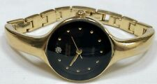 Armitron Ladies GoldTone Bracelet Quartz Watch; New Battery