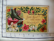 GEO W MEILY ROCHESTER NY JOHN KELLY'S FINE SHOES FLOWERS WOMANS BOOT 1260