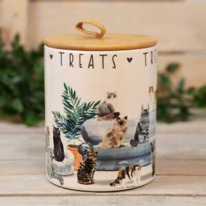 Best of Breed Ceramic Cat Treats Food Storage Jar Box Pot Cats Lover Container