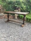 Solid Carved Oak Refectory Table