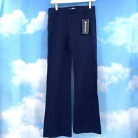 Betabrand Size M Stretch Dress Pants Yoga Pants In Navy Blue Medium NEW