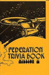 """Star Trek TOS Fanzine """"Federation Trivia Book Mission 2"""" Gen Vintage"""