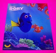 FINDING DORY MOVIE POSTER / PRINT DORY HANK & MARLIN Disney Pixar Kraft Edition