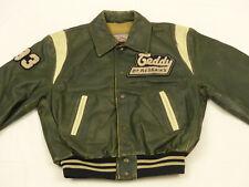 Redskins Vintage Casual Giacca di pelle Teddy LOS ANGELES. University Verde Tg.