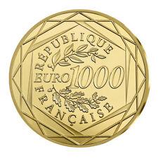 1000 Euro Gold Frankreich Marianne 2017 im Etui Goldmünze Stempelglanz