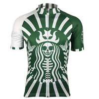 Skeletonbucks Cycling Jersey Bib Short Retro Road Pro Clothing MTB Short Sleeve