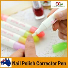 Nail Art Polish Corrector Remover Erase Pen Clean Mistakes Empty  Manicure Tool