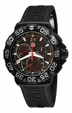 Tag Heuer Men's CAH1012.FT6026 'Formula 1' Chronograph Black Rubber Watch