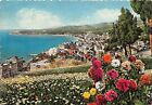 Cartolina - Postcard - Illustrata Varazze panorama da Levante 1951