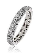 Diamond Wedding Full Eternity Ring 1.00ct F VS Brilliant Cut in Platinum