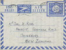 South Africa/Südafrika    Used Airletter To New Zealand from 1949