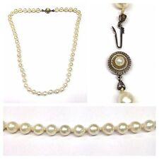 Collana di perle 585er weißgoldverschluss 14 CARATO COLLIER 52 cm bianche