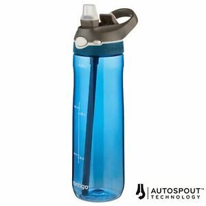 Contigo Ashland AutoSpout Straw Water Bottle 720ml Sport Gym Leak-Proof, Blue