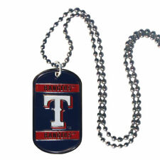 Texas Rangers Metal Tag Necklace MLB Licensed Baseball Jewelry