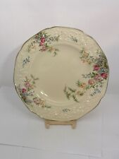 """8"""" Salad Plate - Crown Ducal Rosalie Florentine Shape Embossed Rim"""