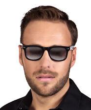 Verspiegelte Geheimagent Brille - Schwarz - Detektiv Polizist Gangster Karneval