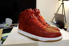 NIKE LAB DUNK HI PREMIUM LUX SP GYM RED OG UK8 US9 DS october racer