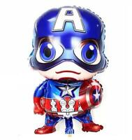 Captain America Avengers Foil Balloon Boys Birthday Decoration Party Superhero