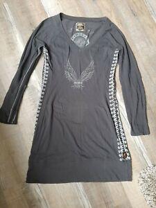 Harley Davidson Women's Dress Size L 100% Cotton Long Sleeve Black Limited...